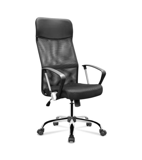 Ergonomická kancelářská židle v černé barvě