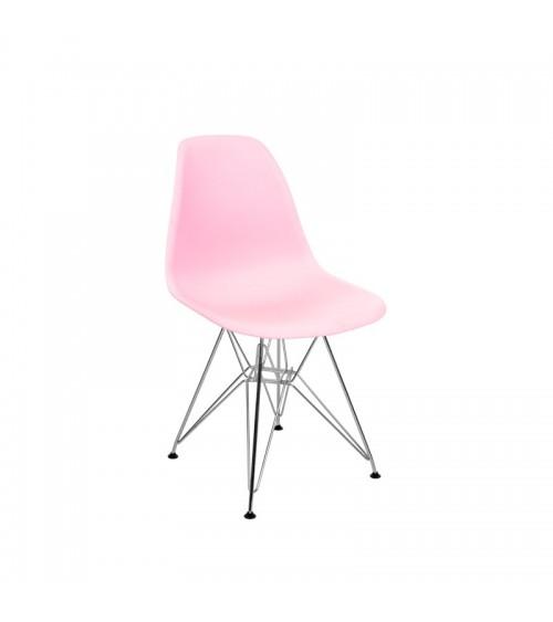 Židle do obývacího pokoje v moderním růžovém skandinávském stylu