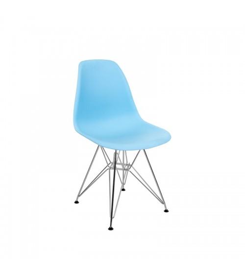 Modrá židle do obývacího pokoje v moderním skandinávském stylu