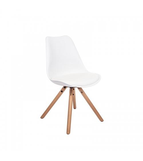 Moderní bílá židle do jídelny.