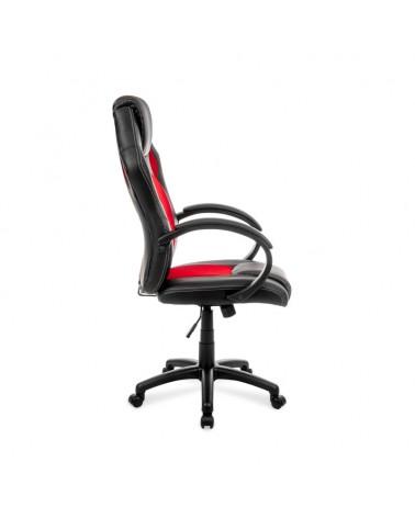 Ergonomiské kancelářské křeslo v červeno-černé barvě.