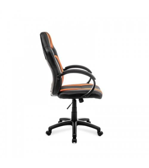 Ergonomická oranžovo-černá otočná židle k psacímu stolu