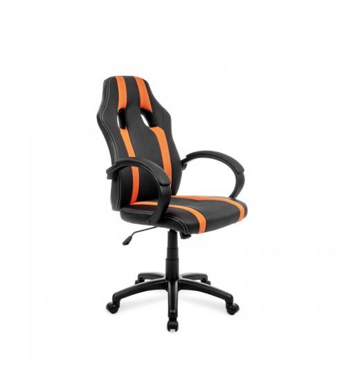 Oranžovo-černá otočná kancelářská židle s nastavitelným sedákem