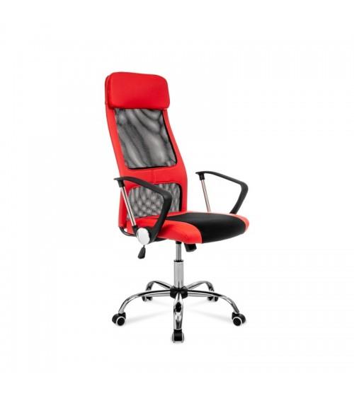 Červeno-černá ergonomická židle s síťovinou mesh