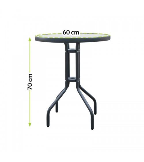 Skleněný konferenční stolek je skvělou volbou pro čajový dýchánek na zahradě.
