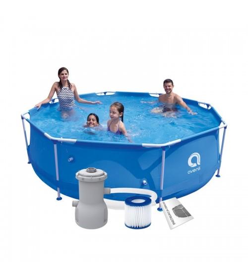 Zahradní bazén s kovovým rámem 12v1