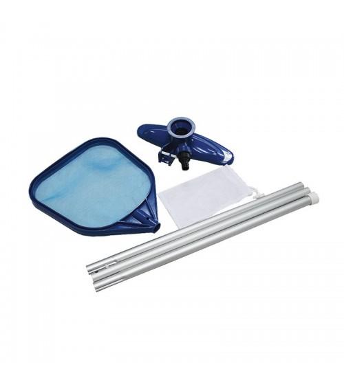 Komplet na čištění bazénu je ideální k přípravě bazénu na koupání.