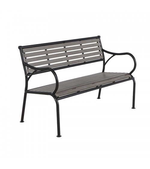 Zahradní lavička s opěradlem a područkami je ideálním místem k odpočinku v soukromí vašeho domova.