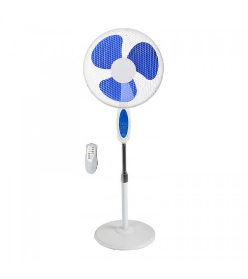 Stojanový ventilátor dokonale ochlazuje vzduch v horkých dnech.