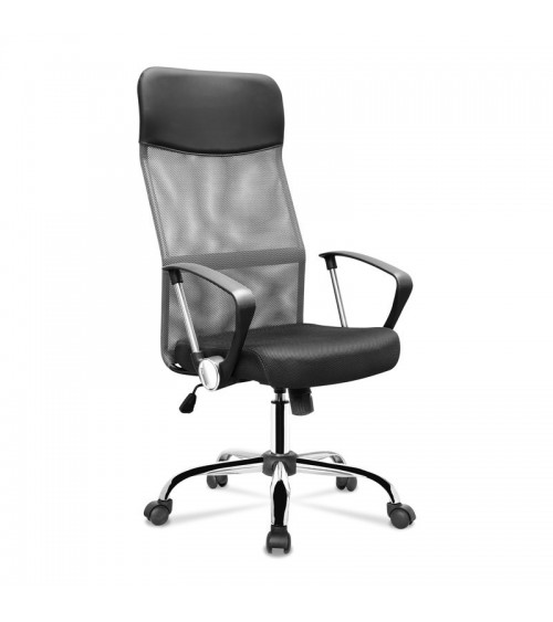Otáčecí křeslo s ergonomickým sedákem v šedo-černé barvě