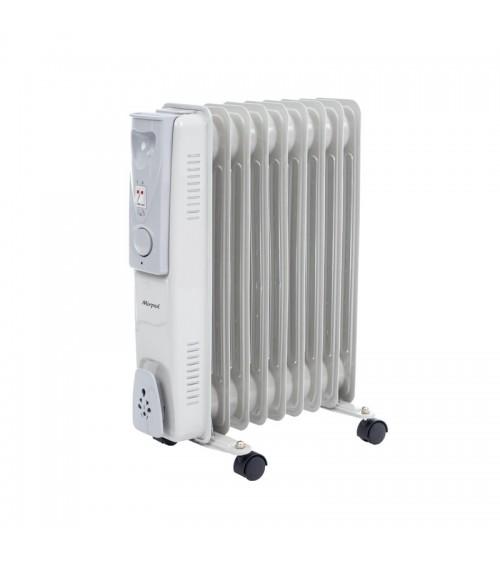 Mobilní elektrický radiátor s nastavitelným topným výkonem.