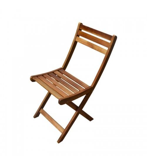 Skládací akátová zahradní židle
