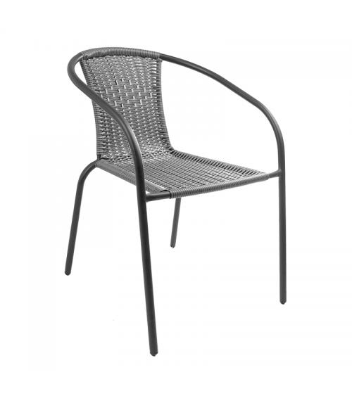 Šedou polyratanovou židli využijete jak na zahradě, na balkóně nebo terase, tak v restauraci.
