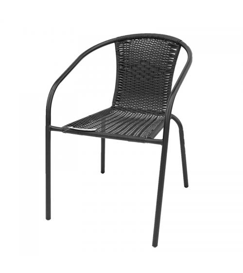 Černou polyratanovou židli využijete jak na zahradě, na balkóně nebo terase, tak v restauraci.