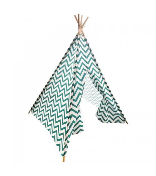 Stan teepee v zelené barvě