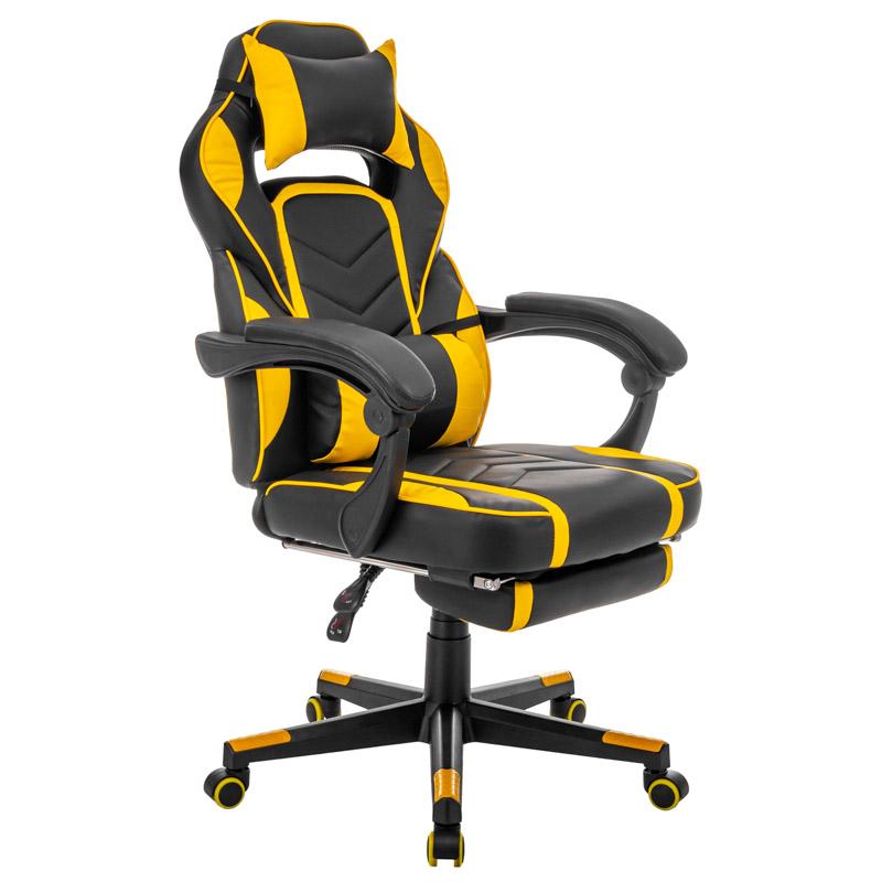 Herní židle s podnožkou